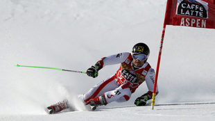 Hirscher, durante el gigante de Aspen