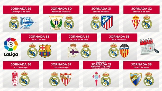 Calendario Del Real.Estadio Santiago Bernabeu Set To Be Epicentre Of Laliga