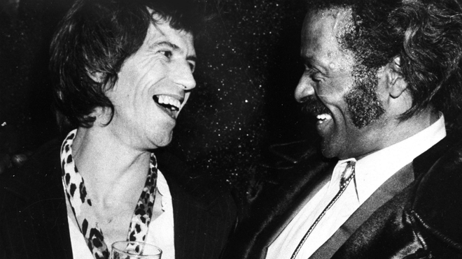 Keith Richards y Chuck Berry