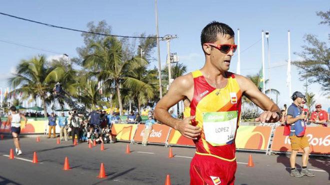 Miguel Ángel López en los Juegos Olímpicos de Río.