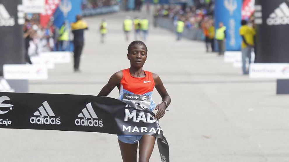 La keniana Margaret Agai en Madrid.