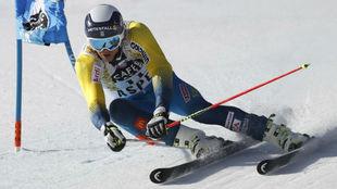 Andre Myhrer, durante la Copa del Mundo de Aspen.