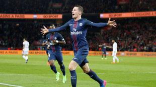 Así celebró Draxler el tanto de la victoria ante el Lyon