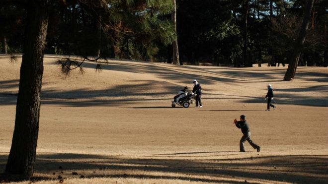 Varios golfistas en el Kasumigaseki Country Club.