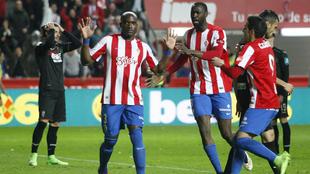 Babin celebra su gol al Granada