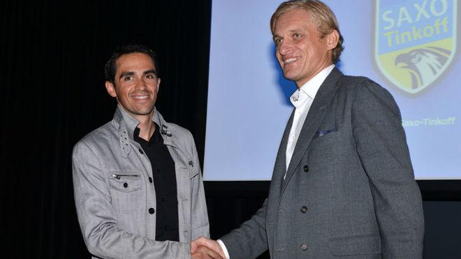 Contador con Tinkov.