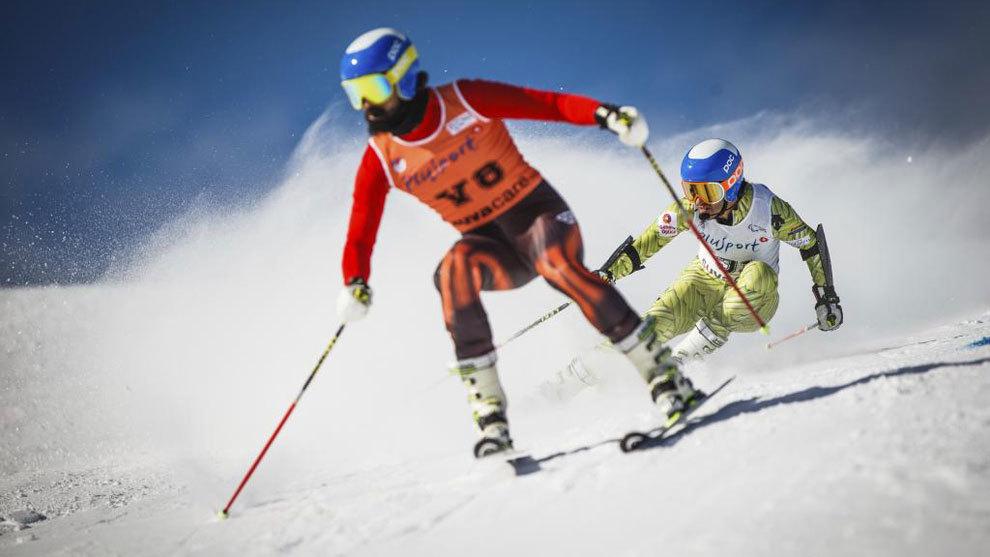 Miguel y Jon en el Mundial de St. Moritz.