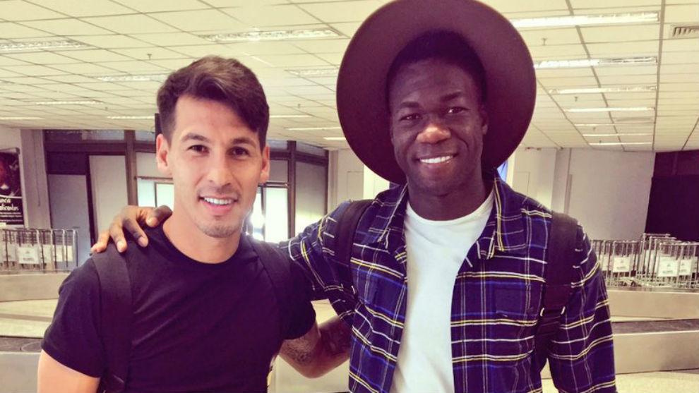 Hernán Pérez y Caicedo, en el aeropuerto.