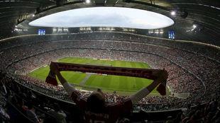 Vista del Allianz Arena antes de un partido del Bayern de Múnich