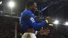 Lukaku celebrando un gol con el Everton.