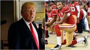 Donald Trump y Colin Kaepernick, de rodillas.