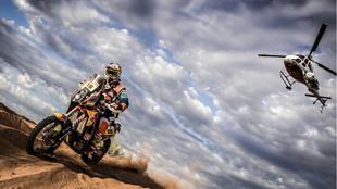Mattias Walkner, durante el Dakar 2017