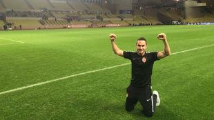 Juanjo Morillas celebra el pase del Mónaco a cuartos de Liga de...