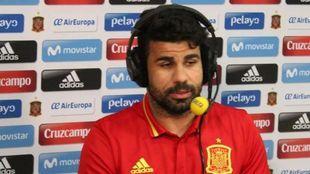 Diego Costa, durante su entrevista con El Larguero