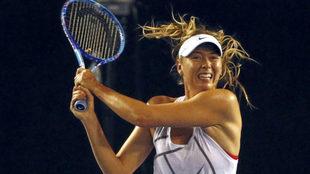 Maria Sharapova, durante un entrenamiento