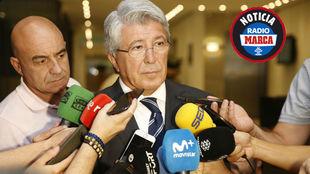 Enrique Cerezo ante preguntas medios de comunicación