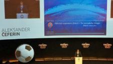 Aleksander Ceferin, durante su conferencia en Football Talks