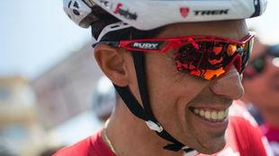 Alberto Contador, antes del inicio de la Volta a Catalunya.