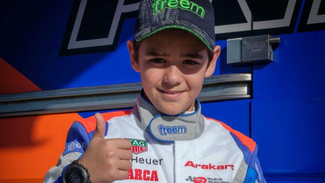 Tommy Pintos (11) Teo Martin Junior Team, en el trofeo Andrea Margutti