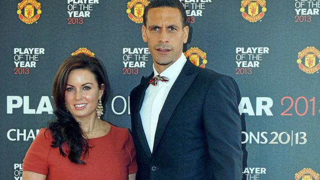 Rio Ferdinand y Rebecca Ellison, en una imagen de archivo de 2013