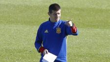 Albert Celades durante un entrenamiento.