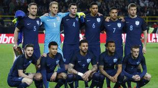 El once de Inglaterra ante Alemania.