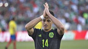 Chicharito, en un partido con México.
