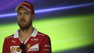 Sebastian Vettel, en la rueda de prensa de Australia