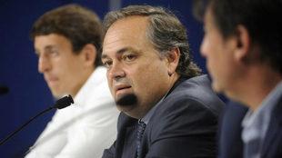 Jokin Aperribay (50), durante una comparecencia como presidente de la...