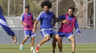 Aridane, durante un entrenamiento reciente en la Ciudad Deportiva El...