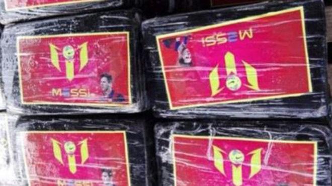 Incautan más de una tonelada de cocaína escondida en fotos de Messi