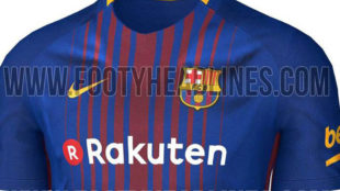 El diseño filtrado por Footyheadlines.com de la nueva camiseta del...
