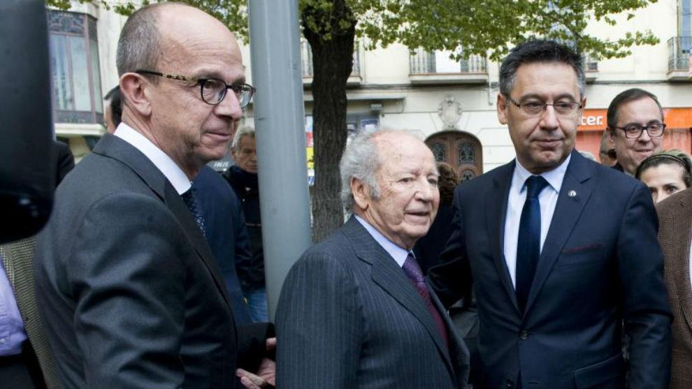 Jordi Cardoner, José Luis Núñez y Josep Maria Bartomeu.