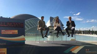 Los ponentes durante la presentación del Mundial de Medio Maratón de...