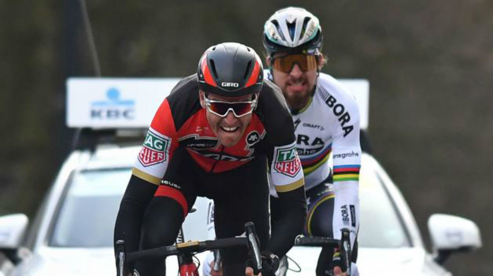 Van Avermaet y Peter Sagan.