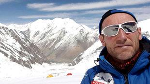 Alberto Zerain en una expedición al Dhaulagiri.