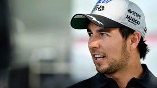 Sergio P�rez, en el circuito de Albert Park en Melbourne.