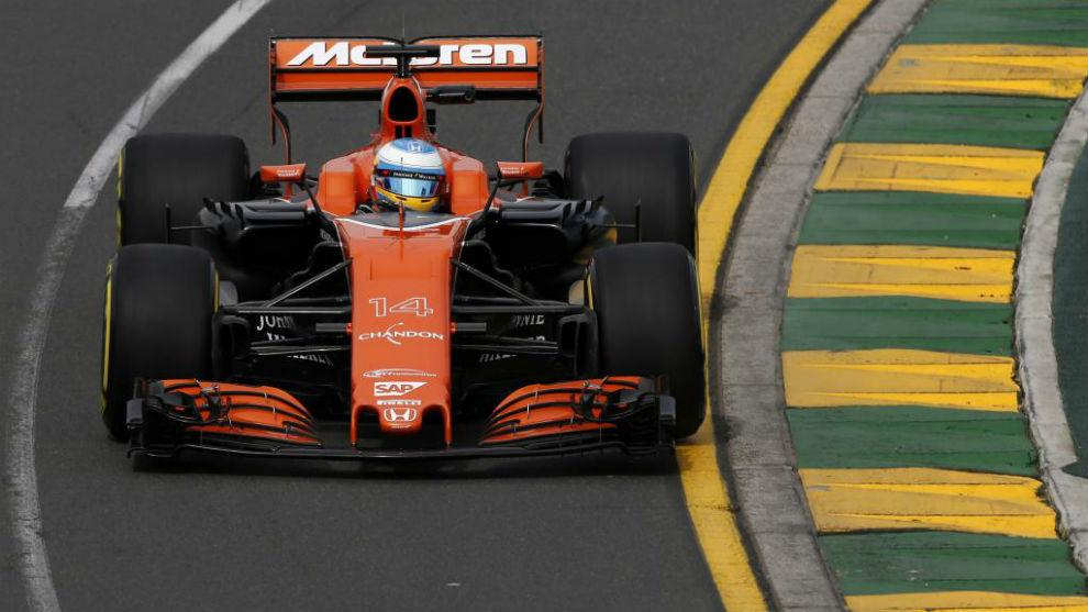 Alonso, en los primeros libres del GP de Australia