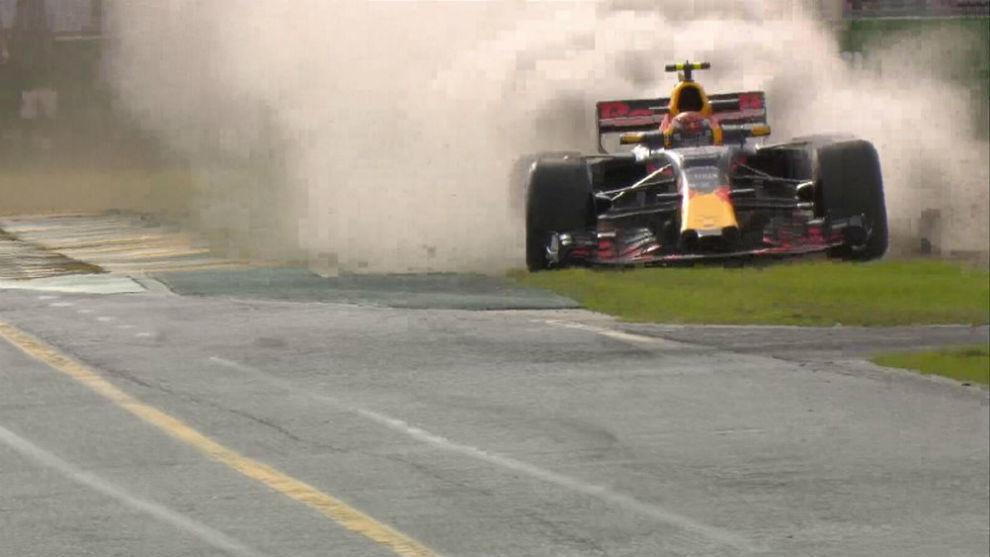 Así fue la pequeña excursión de Verstappen por la escapatoria de...