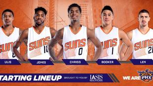Los Suns utilizaron ante los Nets el quinteto inicial más joven de la...