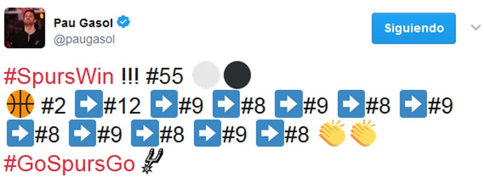 Descripción gráfica de Pau Gasol de la jugada perfecta de los Spurs