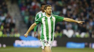 Darko Brasanac, en el partido frente al Sporting de Gijón