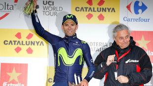 Alejandro Valverde en el podio.