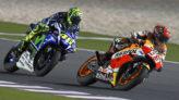 Rossi y Márquez, en la carrera del año pasado