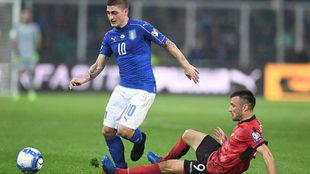 Verratti en el partido frente a Albania.