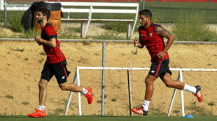 Nico Pareja y Carriço, corriendo en la Ciudad Deportiva.