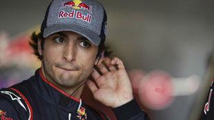 Carlos Sainz, en el circuito de Albert Park.