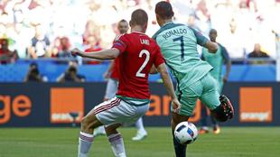 Momento en el que Cristiano marcó el 2-2.