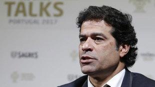 Rai Oliveira en el congreso Football Talks