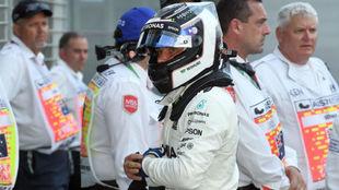 Valtteri Bottas, en la rueda de prensa posterior a la clasificación